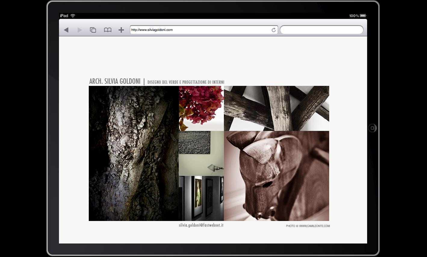 Website Goldoni Ipad