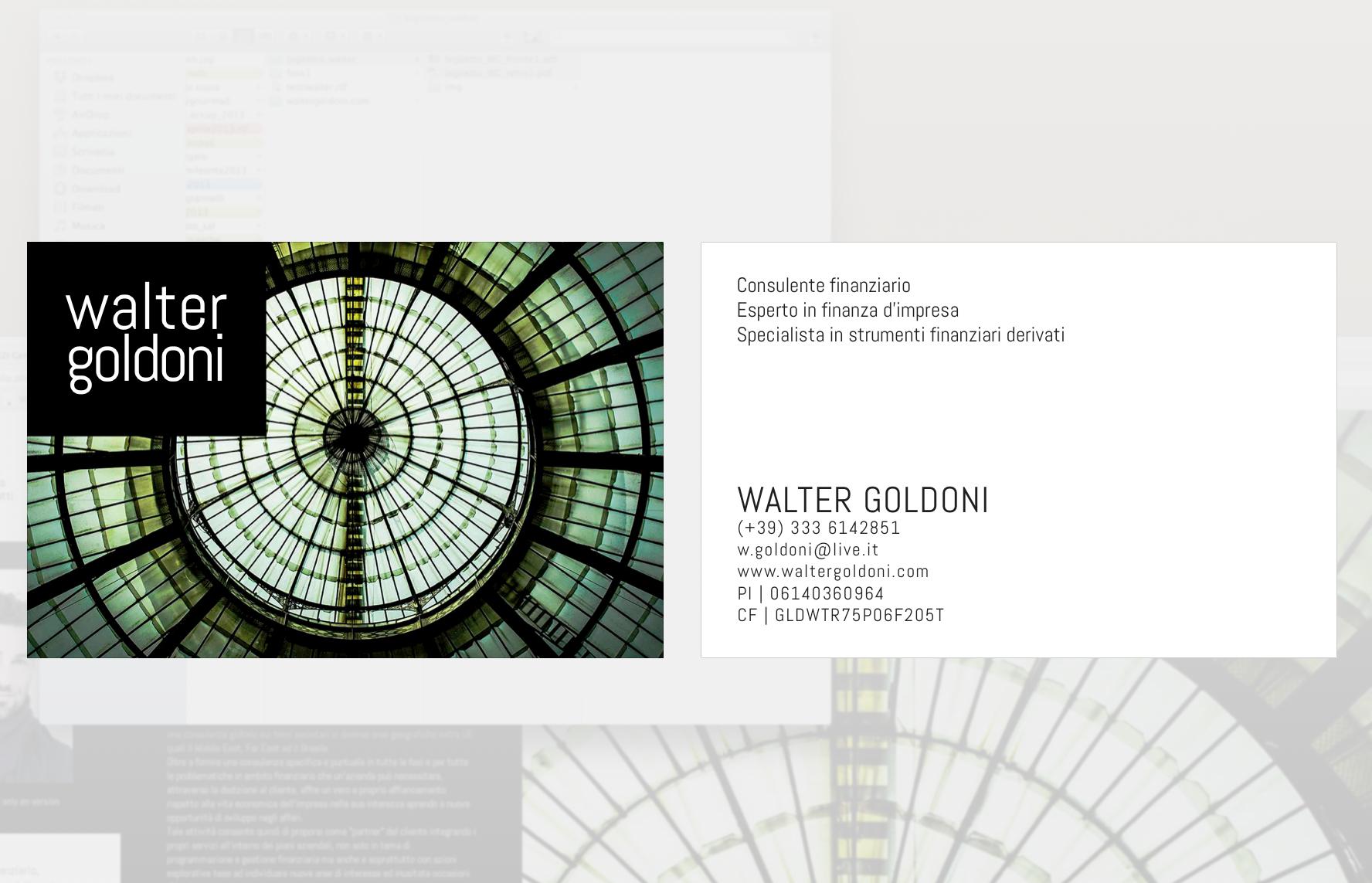 Sito Web Walter Goldoni
