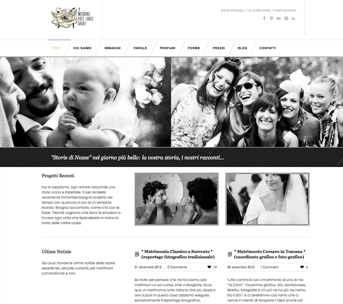 homepageSito web Storie di Nozze